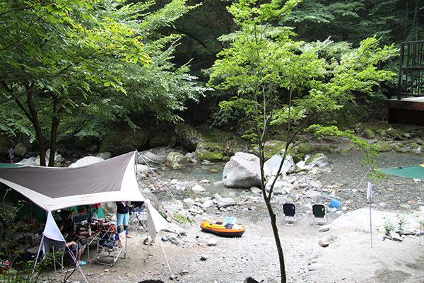 川サイトテント全2区画